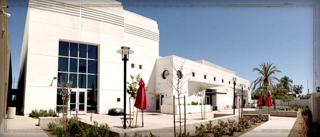 Exterior of Life Mission Church in Escondido, we meet at Classical Academy High School on Sundays @10AM.