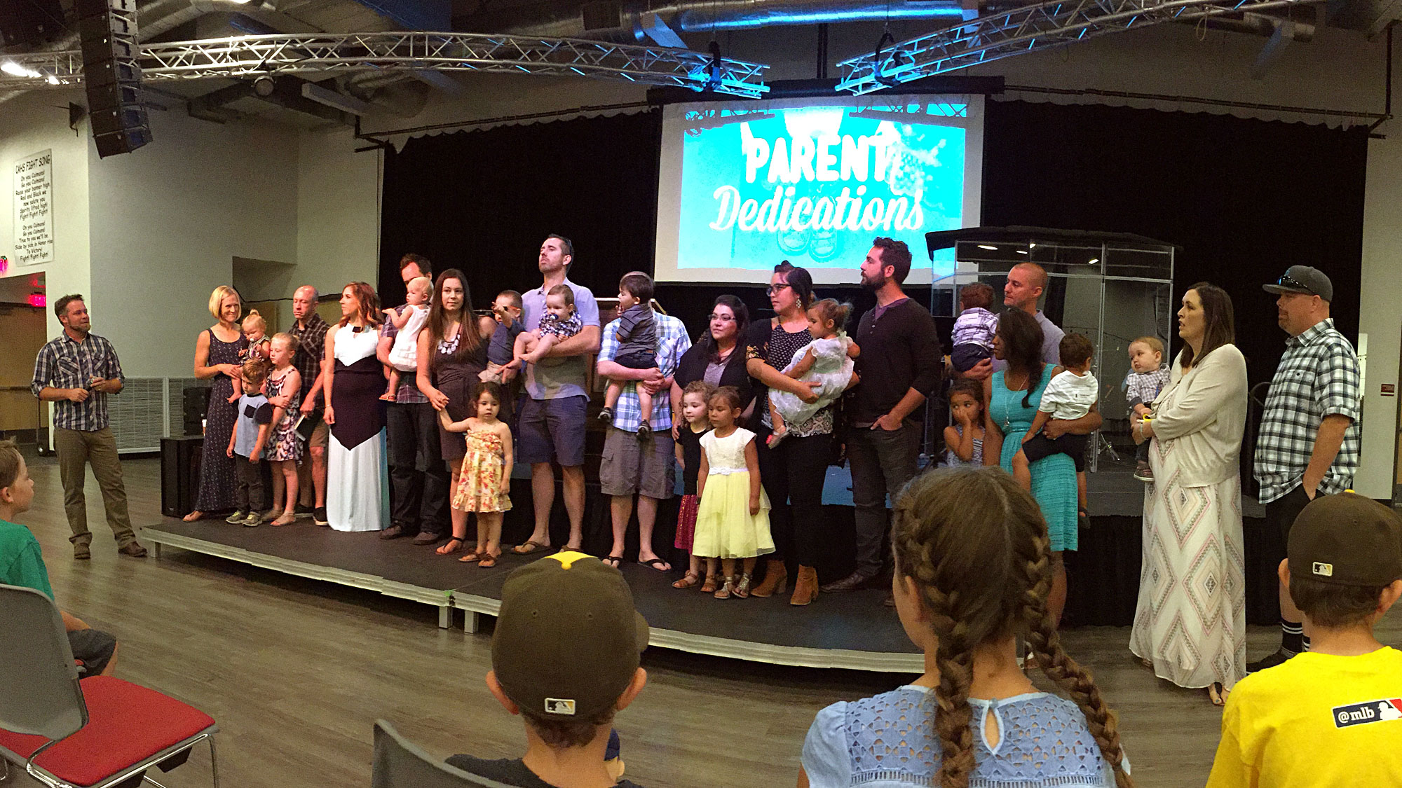 Parent Dedications at Life Mission Church in Escondido.
